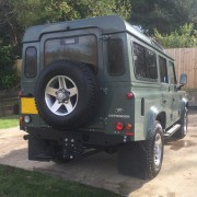 Spare Wheel on a Land Rover Defender