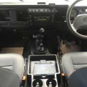 Front Seat Interior of a Land Rover Defender