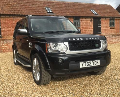 Black Land Rover