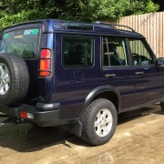 Navy Blue Land Rover Discovery